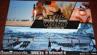 Star Wars:the Force Awakens (2015) Rare Original Lobby Cards India Hindi Title