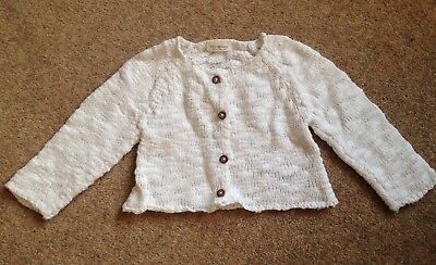 Next 6-9 months baby girl white cardigan