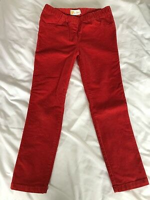 Girls Boden Age 7 Red Cord Trousers