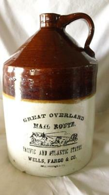 Great Overland Mail Route, Wells Fargo, Stoneware Jug - 2.5 Gal - Free Ship