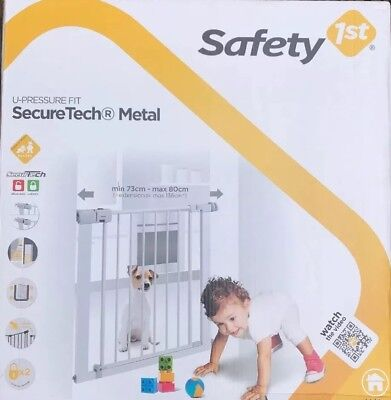 Safety 1st Secure Tech Simply Close Child Baby Metal Gate - White Unopened Box