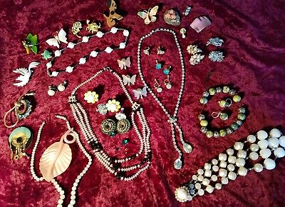 Lot sets vintage brooch Necklace Prcd- Clip On Earring Some need Repair/wear now