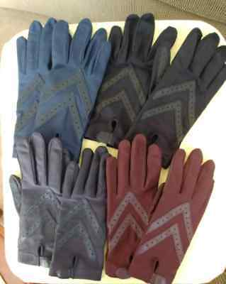 Lot Of Womens Driving Gloves Isatoner Nylon & Spandex & Leather one size