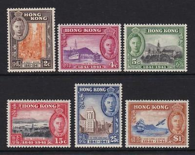 Hong Kong 1941 Centenary Of British Occupation Sg.163/8 Set Of 6 Mounted Mint