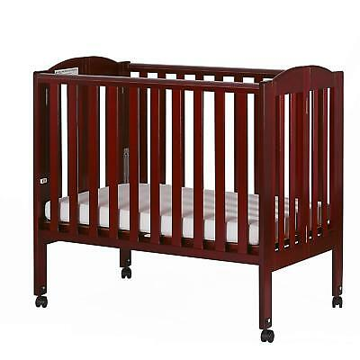 Dream On Me 2 in 1 Portable Folding Stationary Side Crib Cherry