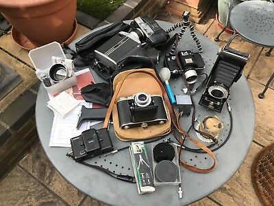 Job Lot Collection Retro Vintage Collectable Photo Cine Cameras Rare Accessories