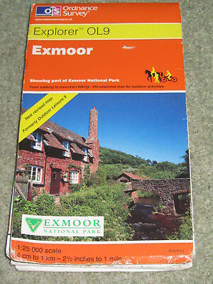 OS Ordnance Survey Explorer 1:25,000 Sheet OL 9 Exmoor