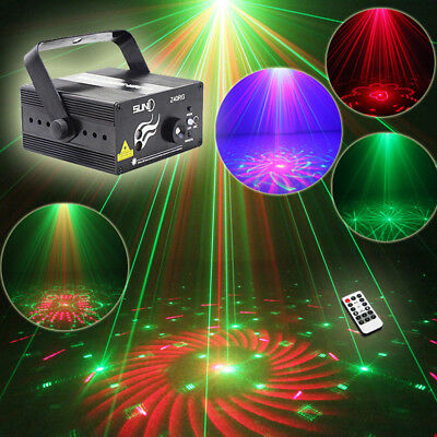 SUNY Stage Light Beam Red & Green Laser DJ Light Full Color Holiday Party Lamp