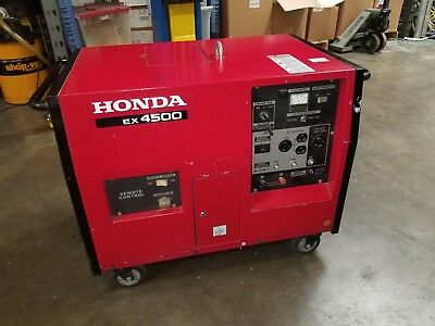 Honda Ex4500 Water Cooled Super Quiet Remote Start Generator 120 And 240 Volts