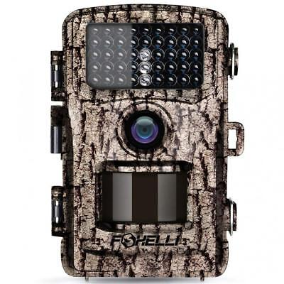 Foxelli Trail Camera – 12MP 1080P Full HD Wildlife Scouting Hunting with...