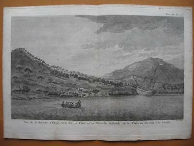 1774 - COOK - AUSTRALIA Print VIEW OF THE ENDEAVOUR RIVER