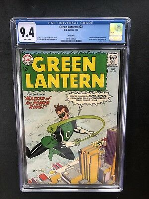 Green Lantern 22 !! Cgc 9.4 !! Twin Cities Pedigree! White Pages !! Htf