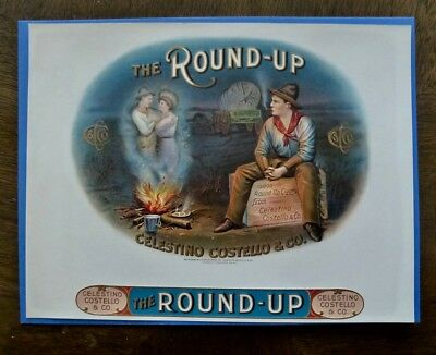 "Vintage Cigar Box Label ""the Round Up"""
