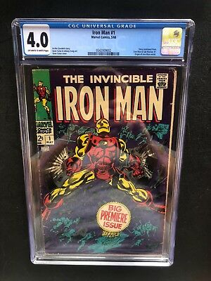 Iron Man 1 !! Cgc 4.0 !! S.a. Classic !! Great Investment !! Ow/w Pages !!
