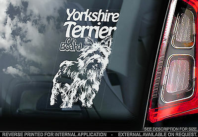 Yorkshire Terrier - Car Window Sticker - Yorkie Dog Sign Art Print Gift - TYP2