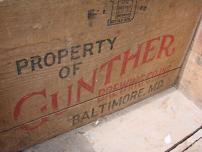 Gunthers's Wood Wooden Beer Box  BALTIMORE, MARYLAND