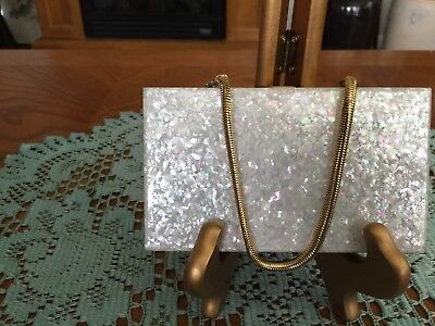 Vintage Mother of Pearl Clutch, Compact & More
