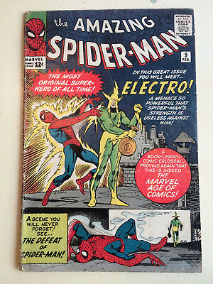 Amazing Spider-Man #9 1st appearance of Electro VF NR