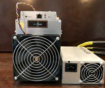 Antminer D3 19.3 gh/s x11 Dash Miner with PSU