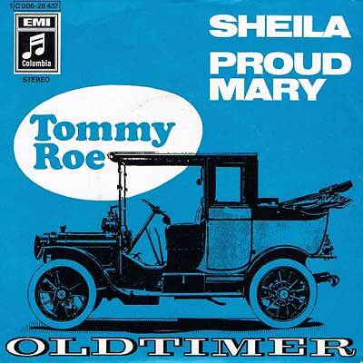 """60s 7"""" 54 - TOMMY ROE - SHEILA - Columbia D 1969 - EX"""