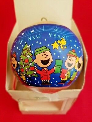 """peanuts"" Glass Ball Hallmark Keepsake Ornament Dated 1981"