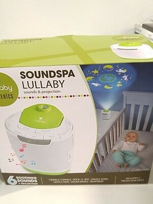 MyBaby, SoundSpa Lullaby Sound Machine & Projector | Choose From 6 Soothing S...