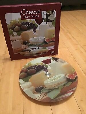 Lazy Susan with retro style food image