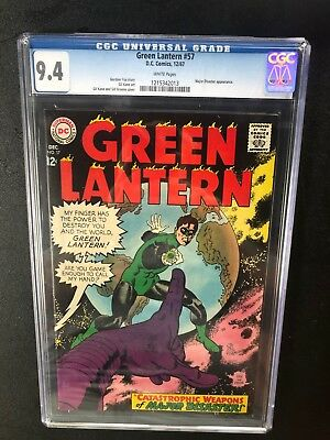 Green Lantern 57 !! Cgc 9.4 !! Classic S.a. !! White Pages !! Awesome !!