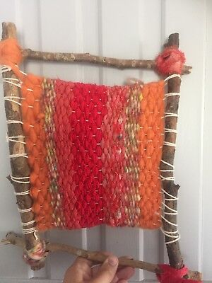 Abstract Woven Rag And Wool Art 38 X 30 Cm