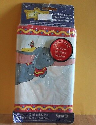 Disney DUMBO The Flying Elephant ~ Wall Paper Self Stick Room Border 5 yd