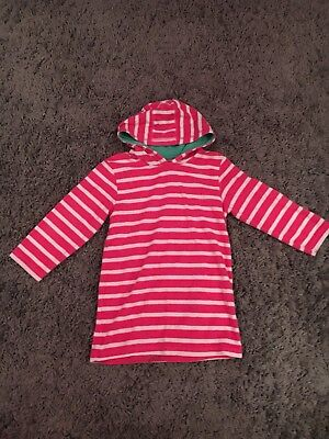 Mothercare Pink And White Striped Toweling Beach  Dress Age 4/5