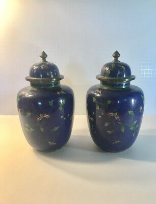 Pair of Antique Early 20th Century Chinese Cloisonné Vase