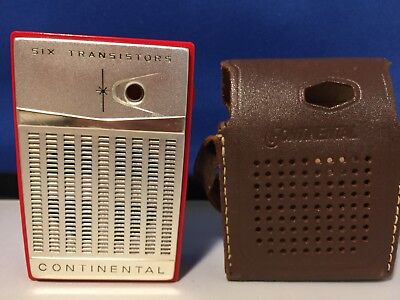 Stunning Vintage Continental TR-661 Transistor Pocket Radio -  Post WW2 1960's