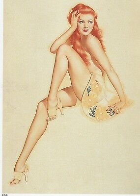 "4 Vargas WWII Pin-Up ""My Girl Back Home, Not My Girl Back Home, Pearl Harbor Red"