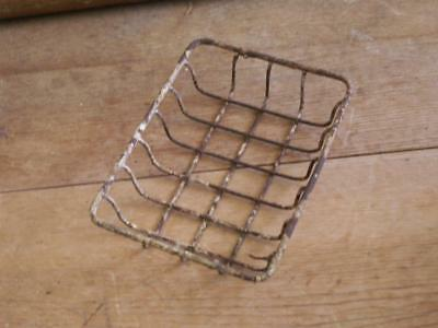 antique farm house kitchen sink WIRE SOAP DISH or for bathroom grungy rusty prim