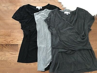 Nursing Tee Lot!! Old Navy Motherhood Maternity XXL XL Grey And Black Shirts