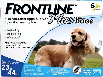 New Frontline Plus Flea & Tick Treatment for Medium Dogs (23-44 pounds) 6_Doses