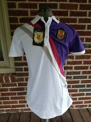 SATIN IN THE HOOD POLO SHIRT XL extra large S/S white