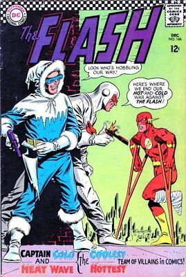 The Flash #166 - DC 1966  Silver Age (Captain Cold & Heat Wave cover)