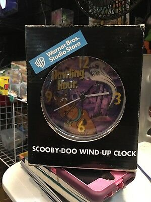 1998 Scooby-doo Wind-up Clock Warner Bros Studio Store MIP Halloween Very Rare