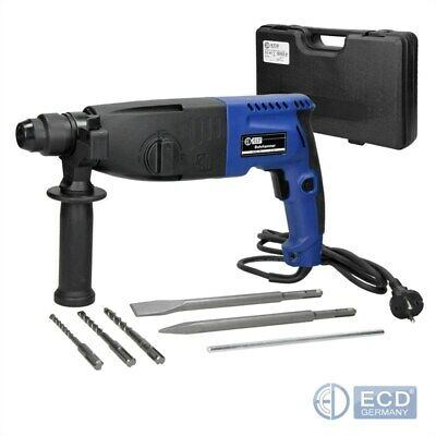 Electric hammer drill rotary brake + case + demolition chisels set SDS plus kit
