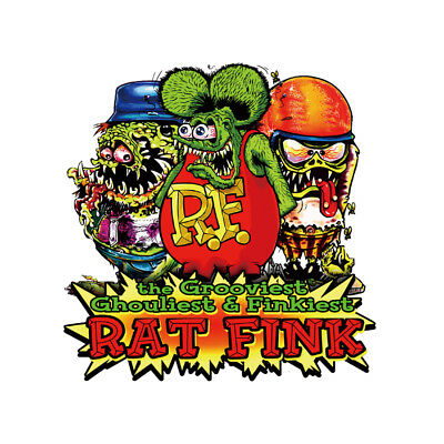 Rat Fink 10CM Ed Roth Vinyl Rare Big Daddy Laptop Car Travel Case Stickers