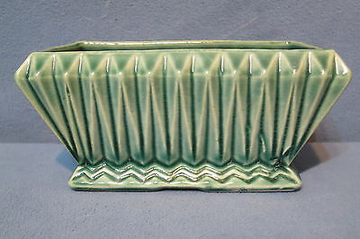 "Vintage Brush McCoy Pottery Oblong Planter # 166-6"" Green 6 1/2"" Long"