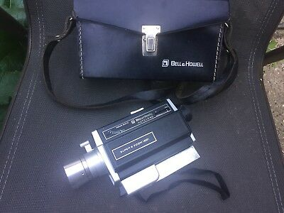 Bell & Howell 1201 Super 8 Zoom autoload Movie Camera w/ case Vintage untested