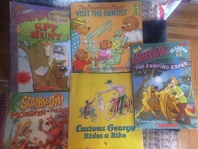 LOT OF 4 Softcover Childrens Books Curious George Angry Birds