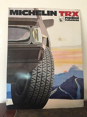 Vintage MICHELIN Tire Metal Sign. Printed in France. Automobilia. Pop Art Poster