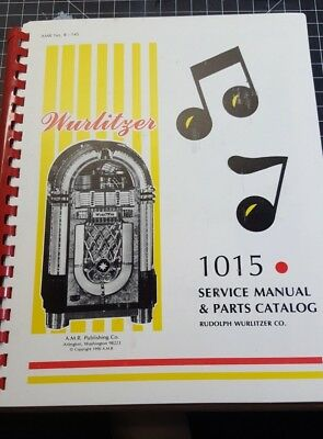 Original Wurlitzer Jukebox Service & Parts Catalog & Manual Model No.1015