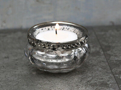 Chic Antique Tealight Lantern with Beads Decoration Country Shabby Vintage