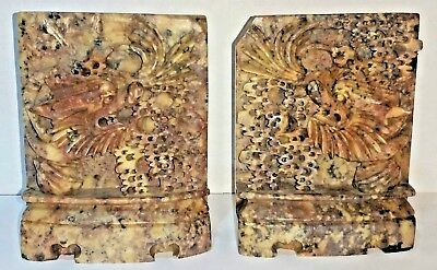 Vintage Asian Soap Stone Carved Dragon - Very Detailed, Heavy, Soapstone