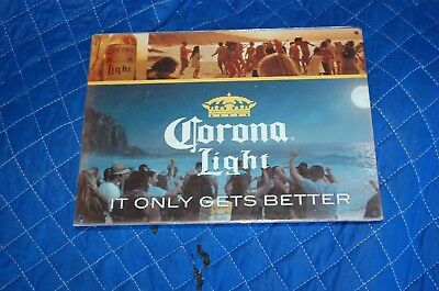 "TIN SIGN ""Corona Light Beer"" It Only Gets Better Cerveza Metal Decor Shop Store"
